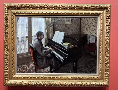 ギュスターヴ・カイユボット「ピアノを弾く若い男」