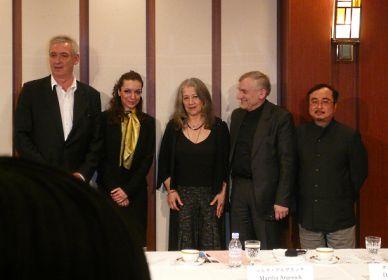 ショパン・コンクール2010会見にアルゲリッチ
