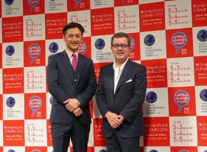 LFJ2014記者発表。石丸幹二とルネ・マルタン