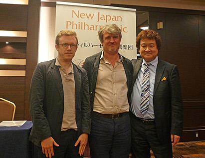 新日本フィル記者発表会にメッツマッハーとハーディング