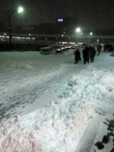 NHKホール前の雪