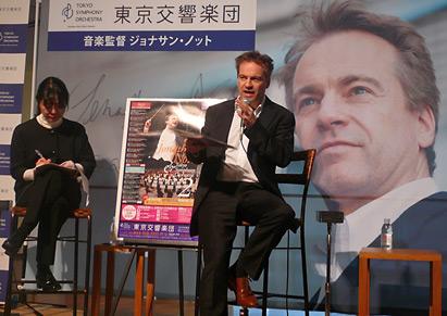 東京交響楽団記者会見 ジョナサン・ノット